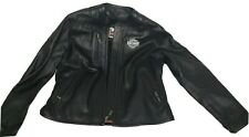 Harley Davidson Womens Leather Jacket w/Liner Lined Black size sz Large L Biker