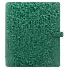 Filofax A5 Finsbury Leather Organizer/Planner Forest Green - 025446 - Brand New