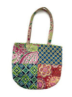 Vera Bradley Lil Patchwork Tote 4 Retired Patterns Small Handbag