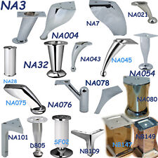 4x Polished Chrome Steel Furniture Legs/Feet Sofa Plinth Cupboard Cabinets NOV17