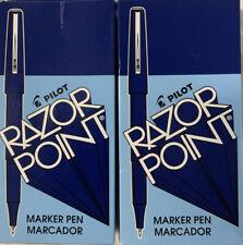 Pilot Razor Point Markers (24) Blue