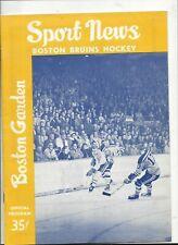 December 8,1962 N.Y. Rangers vs. Boston Bruins program nr.mt (see scan)