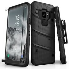 SAMSUNG GALAXY S9 CASE Zizo Bolt Military Drop Tested 9H Glass Screen Protector