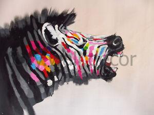 Zebra print rainbow colour satin poster Large 80cm x 60cm from Australia pepe