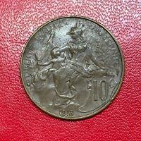#2643 - RARE - 10 centimes 1913 Dupuis TTB+ qualité - FACTURE