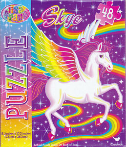 "Jigsaw Puzzle LISA FRANK - SKYE Rainbow Pegasus 48 Piece 9.1"" x 10.3"" Cardinal"