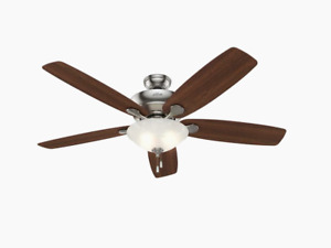Hunter Regalia II 60-in Brushed Nickel LED Indoor Ceiling Fan (5-Blade)