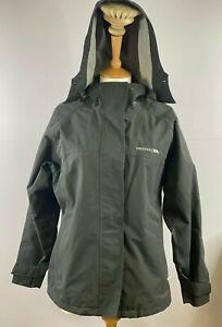 Men's Trespass Regular Fit Black Hooded Waterproof Zip Up Jacket UK Size M