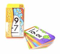 Kids 56pc Maths Educational Learning 2 Sided Picture Word Flash Cards Children