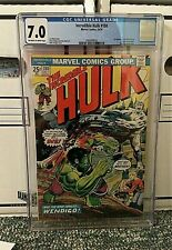 THE INCREDIBLE HULK #180 - 1st APPEARANCE WOLVERINE CAMEO OW/W CGC 7.0 UNIVERSAL
