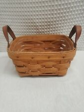 Longaberger Small Tea Basket with Plastic Liners 1998 10740