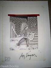 Barnabus Sins Of Honor Back Cover Original  Art SIGNED