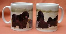 HUNGARIAN PULI DOG MUG OFF TO THE DOG SHOW WATERCOLOUR PRINT SANDRA COEN ARTIST