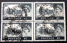 GREAT BRITAIN S.G. #539 USED BLOCK OF 4 WITH PERFIN TOP LEFT STAMP HAS  ENGRAV