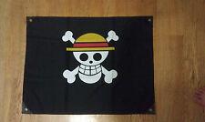 One Piece Pirate Medium Flag Anime Straw Hat Luffy Skull 28''x22''
