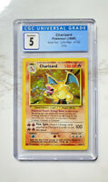 Pokemon Base Set 1999 Unlimited Charizard #4/102 Holo CGC 5 Card RARE PSA BGS