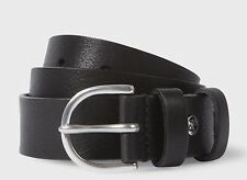 NEW Paul Smith Men's Black Leather Double Keeper Belt Size 32