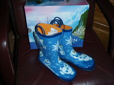Western Chief-Frozen Olaf-Blue Rain Boots-Size 3 youth (Eur 34)--Orig $46.99 NEW