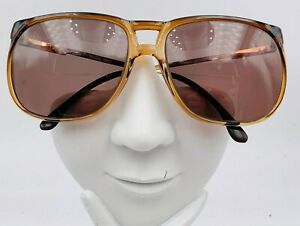 Vintage Marcolin Paul 507 Brown Oversized Oval Sunglasses Italy FRAMES ONLY