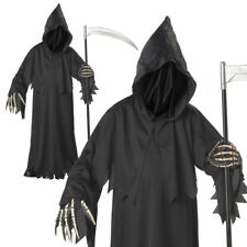 Grim Reaper Scary Haunted Soul Taker Death Devil Boys Halloween Fancy Costume