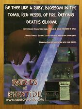 Rubies of Eventide PC Vintage Poster Ad Print Art Official Promo MMORPG Rare