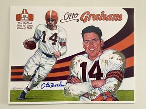 Otto Graham Signed 11x14 Color Poster with COA