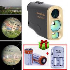 1000m Laser Range Finder Distance Speed Measuring Hunting Golf+Batteries&Charger