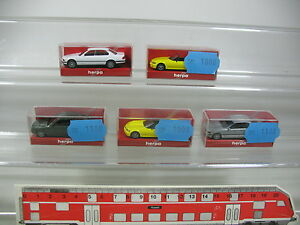 AK990-0, 5 #5x Herpa H0 Car BMW: 031929 528i '95+ 021647 740i +021937 Z3, Mint +