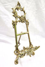"Solid Brass Decorative Brass Easel 12"" ~ Picture Stand Menu Stand Book Stand"