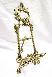 """Solid Brass Decorative Brass Easel 12"""" ~ Picture Stand Menu Stand Book Stand"""