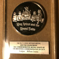 Britannia Commemorative Society 28th King Arthur .999 Silver Proof Medal