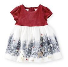 Koala Kids Velour Winter Scene Dress Size 0-3 M Discontinued Christmas Baby Girl