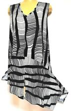 plus sz XXS/ 12 VIRTU TS TAKING SHAPE Sandscape Tunic soft stretch drape top NWT