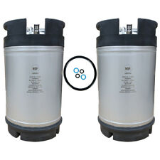 New listing 3 Gallon Ball Lock Homebrew Keg New - Two Pack - Beer Coffee Tea - Free Shipping