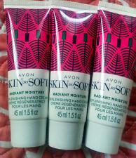 Avon Skin So Soft Holiday Radiant Moisture Replenishing Hand Cream(Lot Of 3)