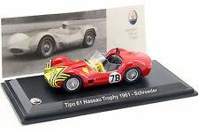 Maserati Tipo 61 #78 Nassau Trophy 1961 Schroeder 1:43 Leo Models