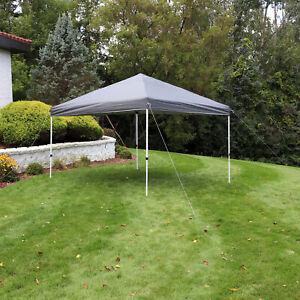 Sunnydaze 12x12 Foot Standard Pop Up Canopy with Carry Bag - Gray
