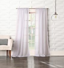"""No. 918 Tayla Crushed Sheer Voile Rod Pocket Curtain Panel 50"""" x 84"""" White (O22)"""