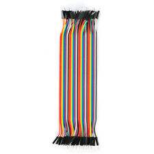 40pcs Colors 20cm 2.54mm male to male Breadboard jumper wire cable for Arduino