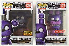 Funko POP! FNAF Target & Hot Topic: SHADOW FREDDY #126 & BONNIE #127 - Exclusive
