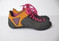 Asolo Rock Climbing Shoes Mens 6.5 EUR 39-1/3 Lace Up Mountain Brown Black Pink