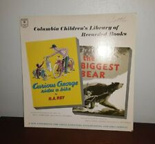 Columbia Records CURIOUS GEORGE and THE BIGGEST BEAR Read by Gilbert Mack LP