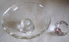 Oleg Cassini Crystal Dish & Diamond Crystal Paperweight