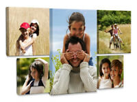 Your Personalised Photo on A4 Ready to Hang Canvas Print - Framed Large Box