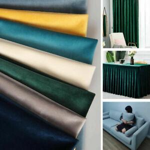 Velvet Fabric Upholstery Soft Plush Velvet Sofa Curtain Sewing Velour Material