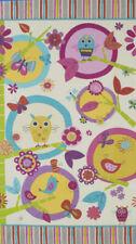 Robert Kaufman Fabric - Fly Away Owl Panel - Cotton