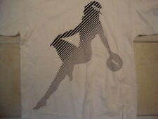 Puma Sportswear Cute Sexy Girl Silhouette White Cotton T Shirt Size M