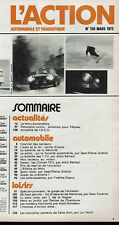 L'ACTION AUTOMOBILE N°139  1972 fiat 124 ford taunus opel ascona peugeot 304 ...