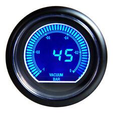 "Universal 2.5""  Racing 60mm Vacuum Ratio Gauge Meter Blue Shift Lcd Brand New"
