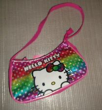 "Girl's Multi Color Synthetic Shoulder or Handbag By ""Hello Kitty"" Size S (New)"
